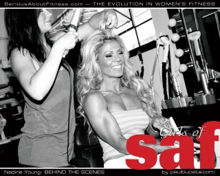 Behind the Scenes I with Nadine Young at 'Summer 2011' and 'Sessions One'
